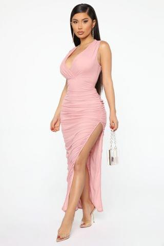 WOMEN After Party Invite Ruched Midi Dress - Mauve