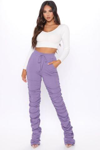 WOMEN Curves And Chill Stacked Pant - Purple