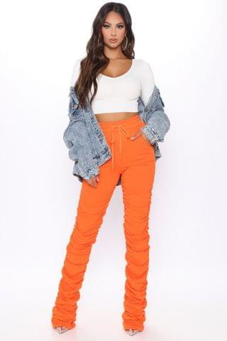 WOMEN Curves And Chill Stacked Pant - Orange