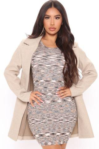 WOMEN Fall Into It Collared Coat - Oatmeal