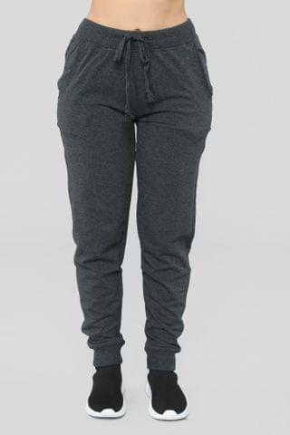 WOMEN Latest And Greatest French Terry Jogger - Charcoal