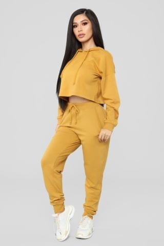 WOMEN Latest And Greatest French Terry Jogger - Mustard