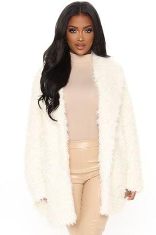 WOMEN New Limits Faux Fur Coat - Ivory