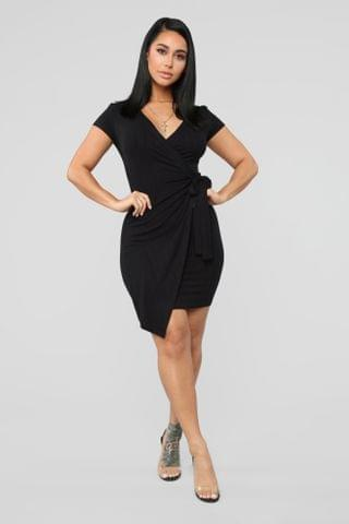 WOMEN Eileen Wrap Dress - Black