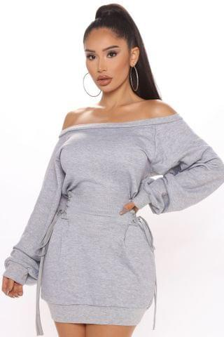 WOMEN Rise And Grind Corset Dress - Dark Grey