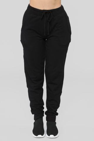 WOMEN Latest And Greatest French Terry Jogger - Black