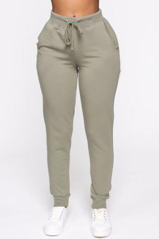 WOMEN Latest And Greatest French Terry Jogger - Olive