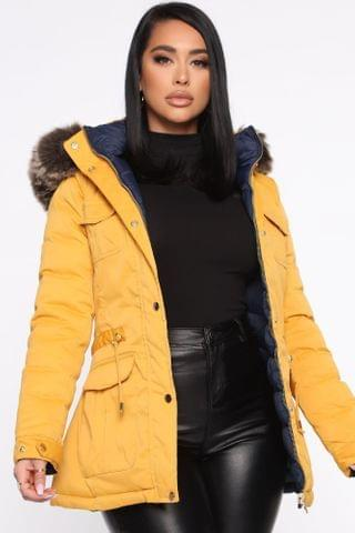 WOMEN Winter Element Reversible Jacket - Mustard/combo