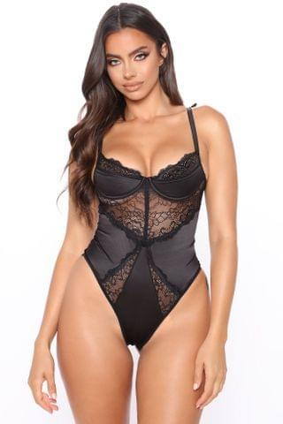 WOMEN After Party Affair Lace Teddy - Black