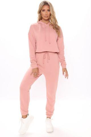 WOMEN Work Things Out Fleece Joggers - Mauve