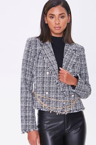 WOMEN Double-Breasted Tweed Blazer