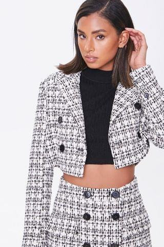WOMEN Tweed Cropped Blazer