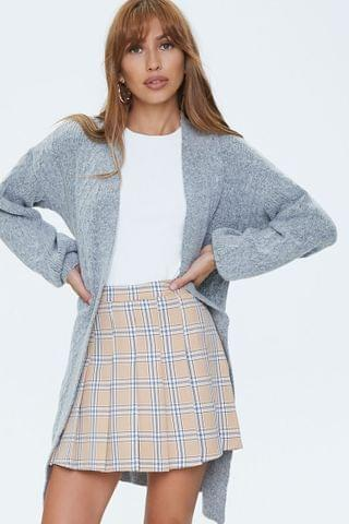 WOMEN Cable Knit Cardigan Sweater