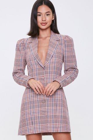WOMEN Glen Plaid Blazer Dress