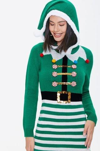 WOMEN Elf Knit Sweater Dress