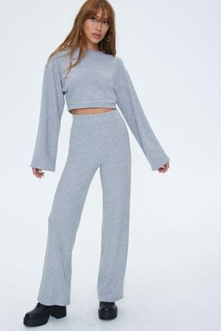 WOMEN Bell Sleeve Pullover & Flare Pants Sets