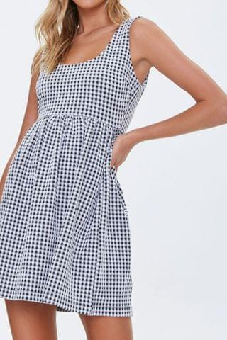 WOMEN Gingham Mini Dress
