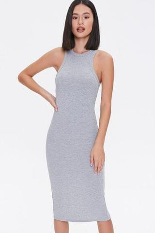 WOMEN Ribbed Knit Tank Dress
