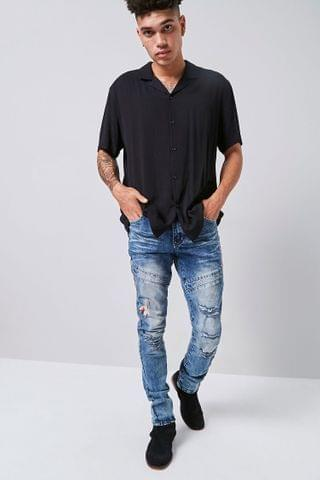 MEN Reason Embroidered Dragon Jeans