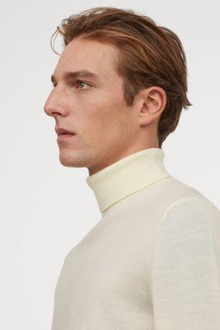 MEN Merino Wool Turtleneck Sweater