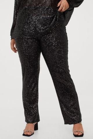 WOMEN H&M+ Sequined Pants