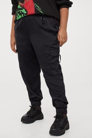 WOMEN H&M+ Satin Utility Pants
