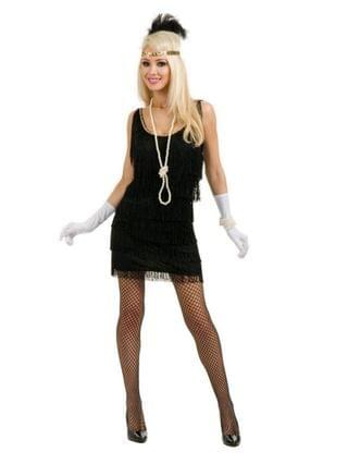 MEN Fashion Flapper Black Adult Costume