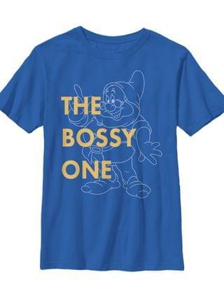 KIDS Disney Snow White and The Seven Dwarfs Big Boys The Bossy One Short Sleeve T-Shirt