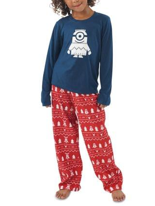 WOMEN Matching Kids Holiday Minions Family Pajama Set