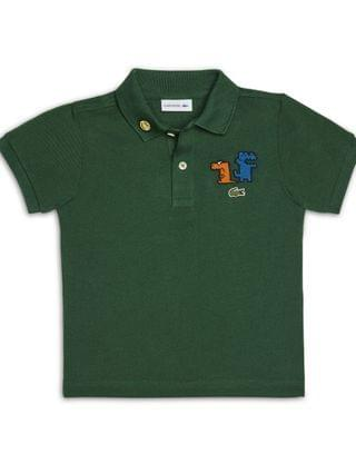 KIDS Little Boys Short Sleeve Organic Cotton Petit Pique Polo Shirt