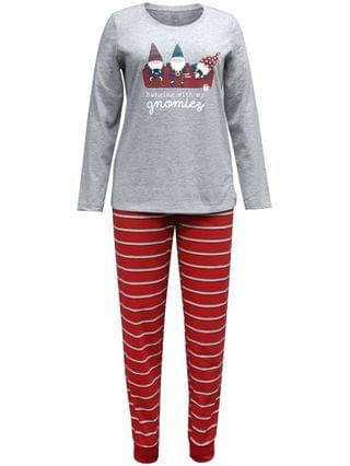 WOMEN Matching Women's Gnomies Family Pajama Set, Created for Macy's