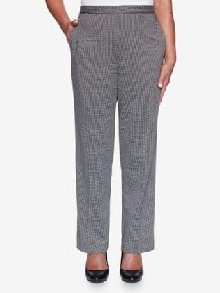 WOMEN Plus Size Knightsbridge Station Houndstooth Knit Proportioned Pant