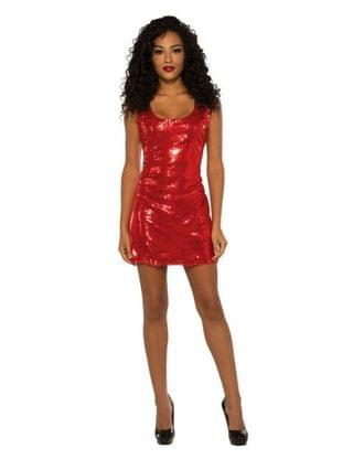 MEN Sassy Red Sequin Dress Adult Costume