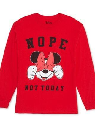 WOMEN Trendy Plus Size Minnie Mouse Not Today Top