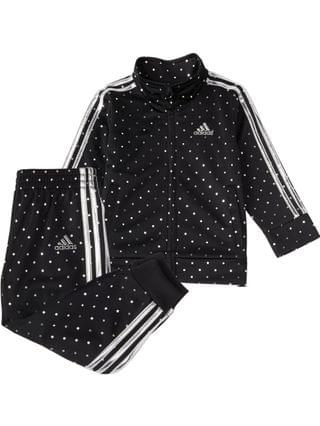 KIDS Little Girls Zip Front Tricot 2-Piece Jacket and Jogger Pants Track Set