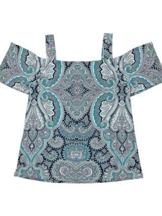 WOMEN INC Printed Cold-Shoulder Top, Created for Macy's