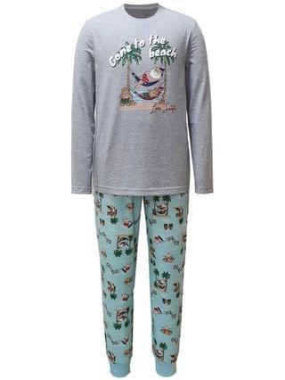 MEN Matching Men's Tropical Santa Family Pajama Set, Created for Macy's