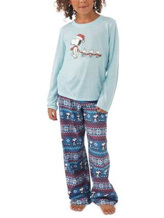 WOMEN Matching Kids Peanuts Family Pajama Set