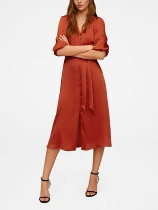 WOMEN Buttoned Midi Dress