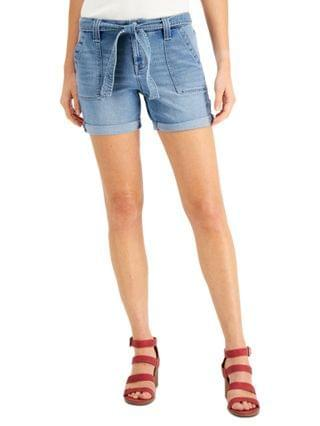 WOMEN Petite Belted Utility Shorts, Created for Macy's