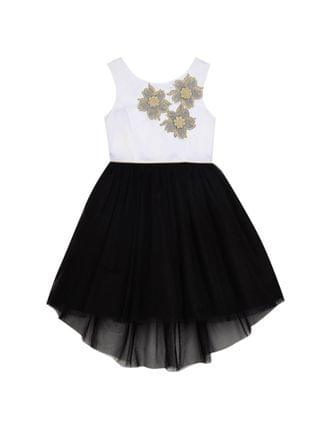 KIDS Big Girls Tulle Skirt with Applique Bodice Dress