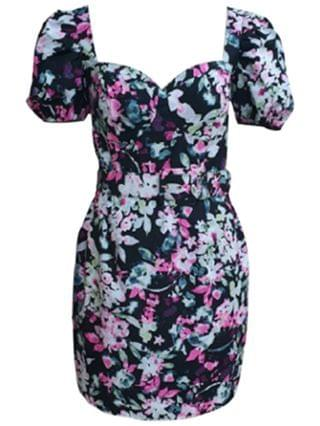 WOMEN Belted Floral-Print Bustier Dress, Created for Macy's