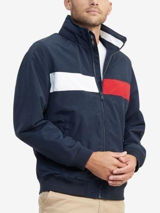 MEN Creek Pieced Colorblocked Yacht Jacket with Zip-Out Hood