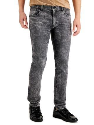 MEN INC Men's Skinny-Fit Gray Snow Washed Jeans, Created for Macy's
