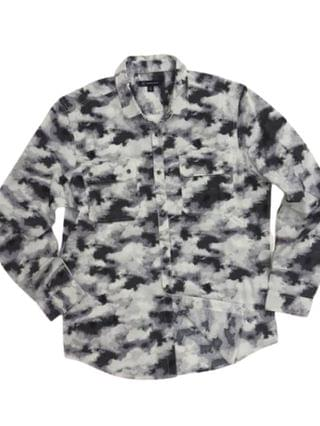 MEN Men's INC International Concept Long Sleeve Cloud Utility Shirt