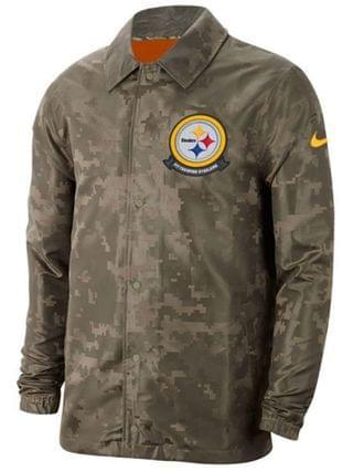 MEN Men's Pittsburgh Steelers Salute to Service Light Weight Jacket