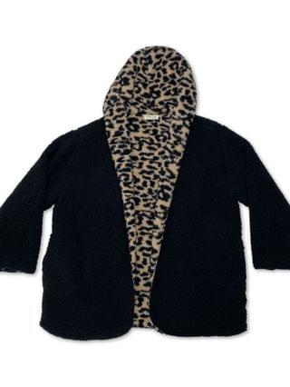 WOMEN Trendy Plus Size Reversible Fleece Cardigan