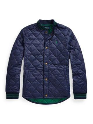 KIDS Big Boys Water-Resistant Quilted Baseball Jacket