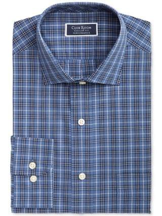 MEN Heritage Classic/Regular-Fit Performance Stretch Plaid Dress Shirt, Created for Macy's