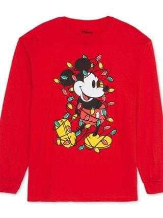 WOMEN Trendy Plus Size Mickey Mouse Christmas Top